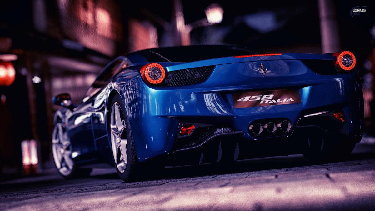 Ferrari 458 Italia Blue Hd Desktop Wallpapers 4k Hd Card From