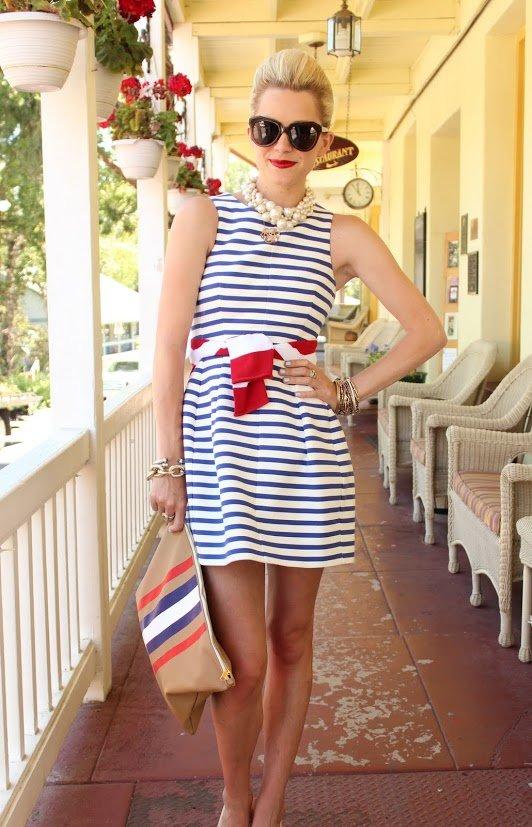 Фото платьев в морском стиле на вечеринку