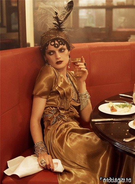 "Модный макияж ""золотых двадцатых"" .."