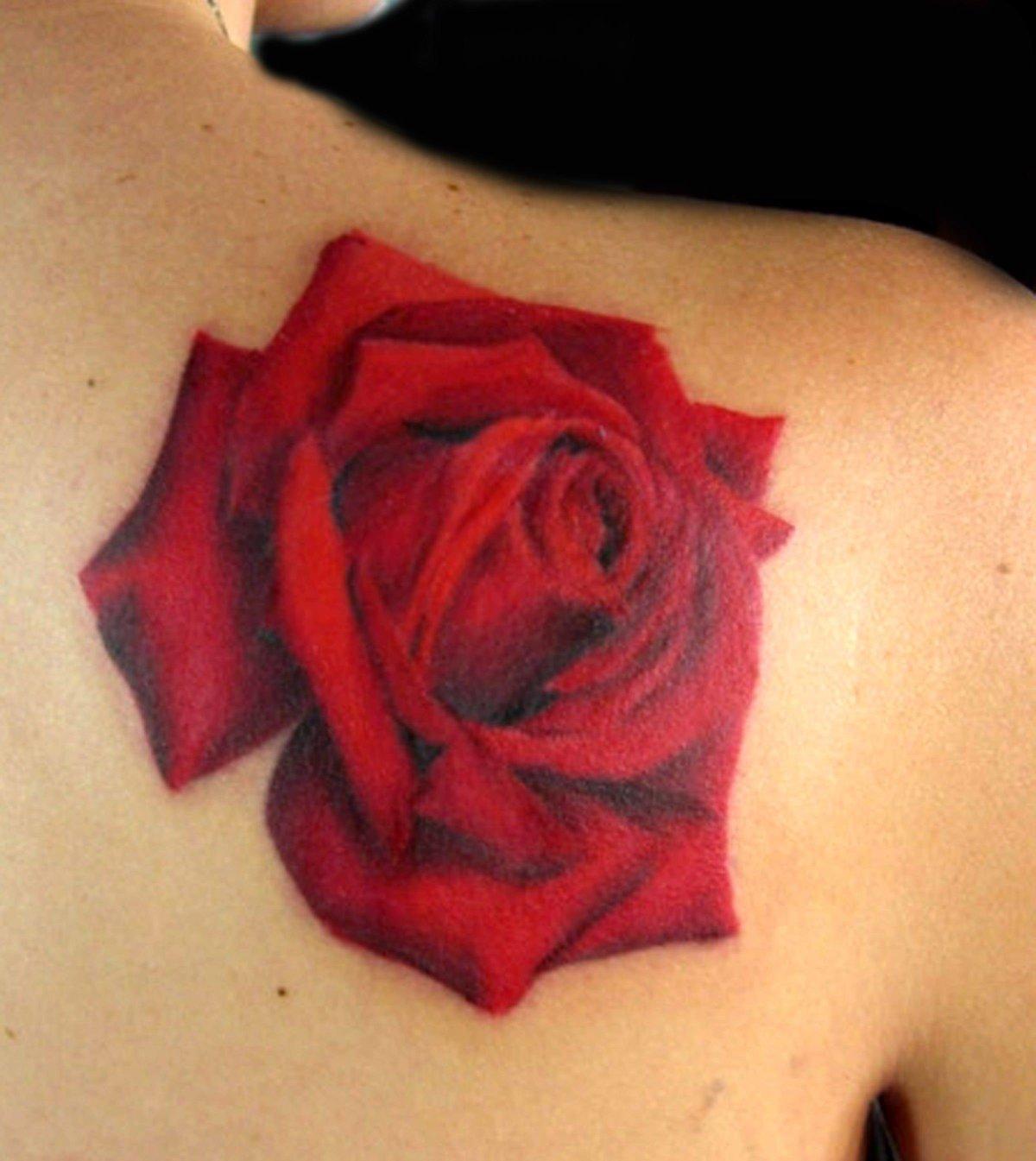 алая роза фото тату пусть сердце устанет
