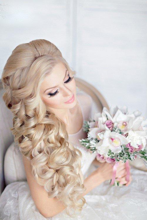 Свадебные прически для блондинок с длинными волосами