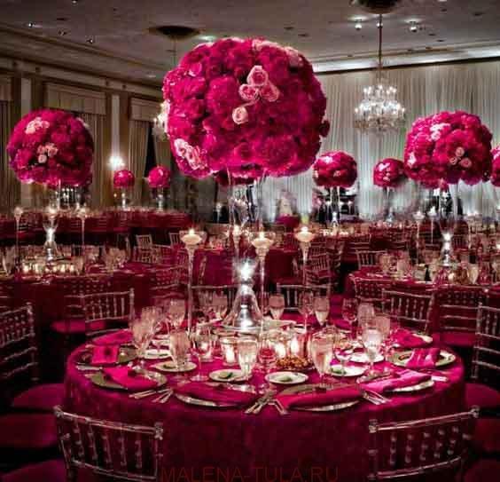 Свадебный декор банкетного зала. стильно