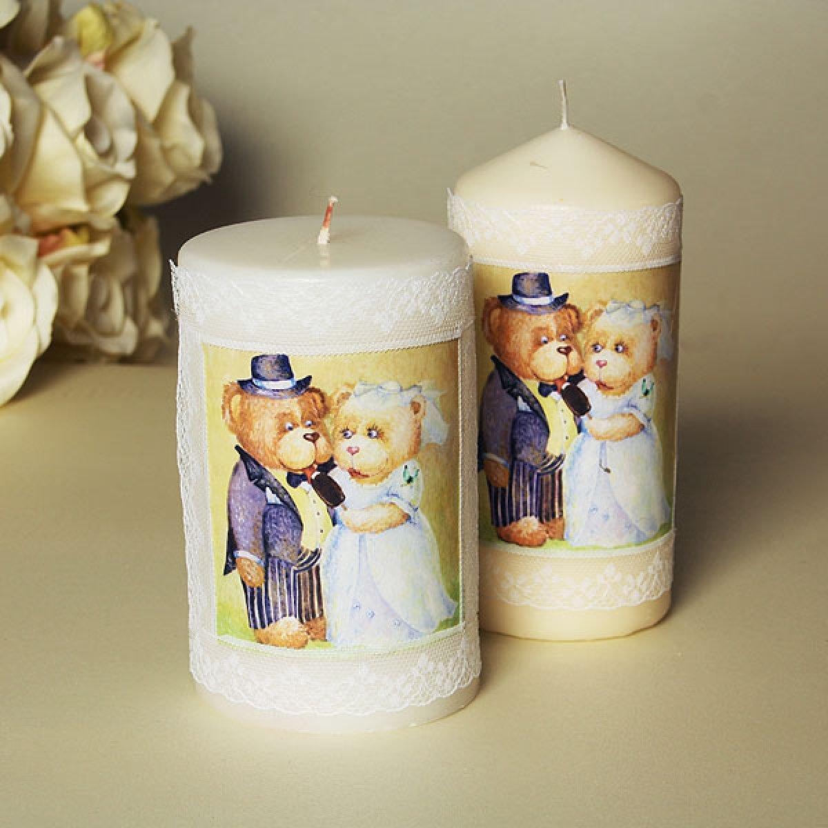 Свечи картинки для декупажа