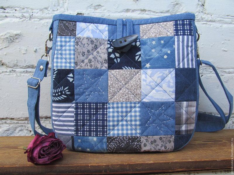 Лоскутное шитье сумки своими руками .
