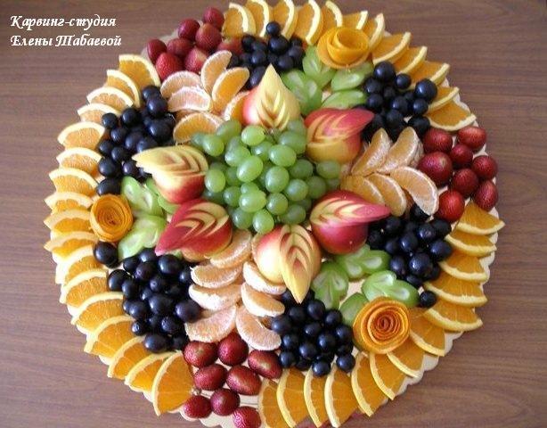 Украшение фруктовой тарелки фото