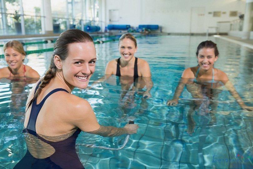 Плавание для похудения бока