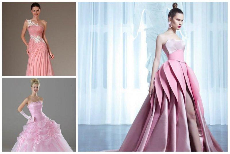 Розовое свадебное платье приметы
