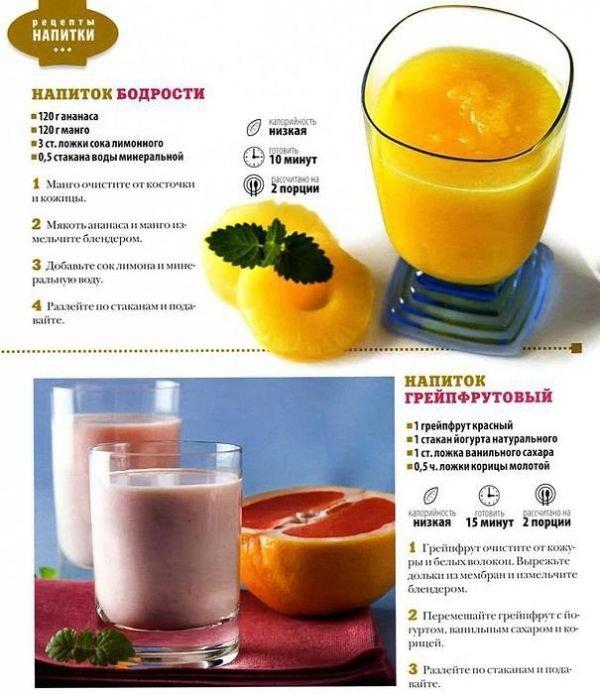 Еда и напитки / РЕЦЕПТЫ диетические /Hапитки. / Pinme.ru ...