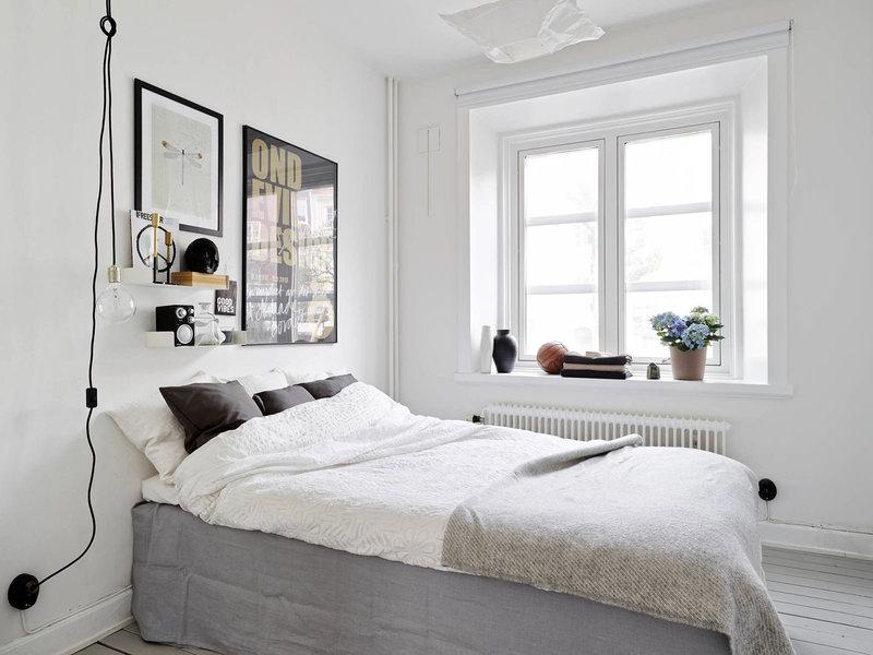 Скандинавский интерьер - прекрасный выбор для спальни