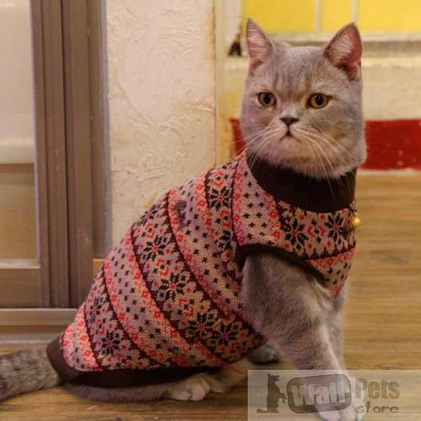 Картинки вязаной одежды для кошек