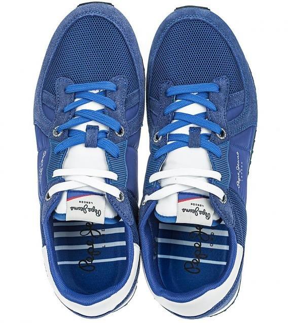 Синие кроссовки с вкладной стелькой