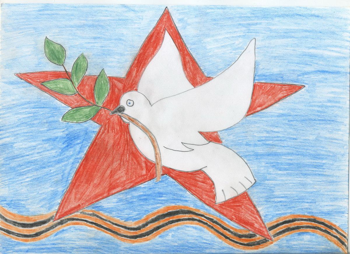 Детские открытки рисунки к 9 мая