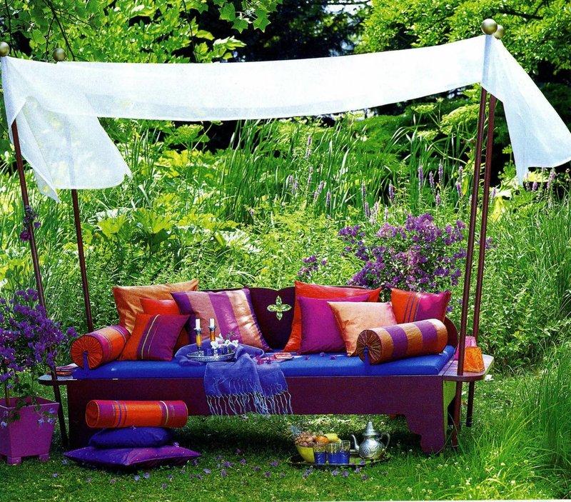 Садовые скамейки. Ландшафтный дизайн и благоустройство в Сан