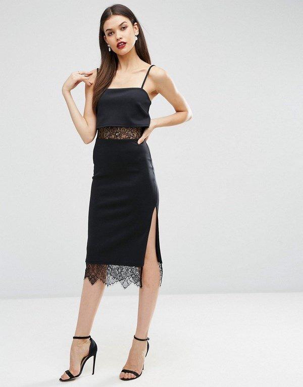 Модные черные платья 2018