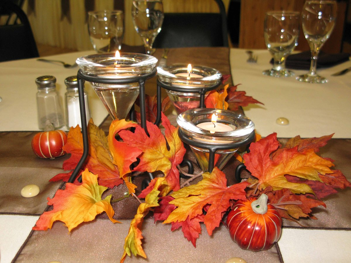 Осеннее оформление стола картинки