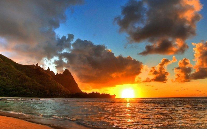 Красивый закат красиво