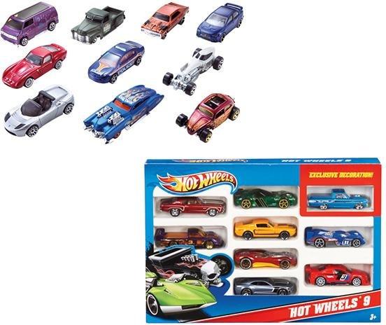 Набор из 10 шикарных литых машинок Hot Wheels® в масштабе 1:64. В каждом наборе разные машинки!