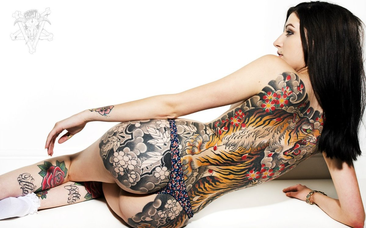Sex most tattooed woman naked used panties pussy