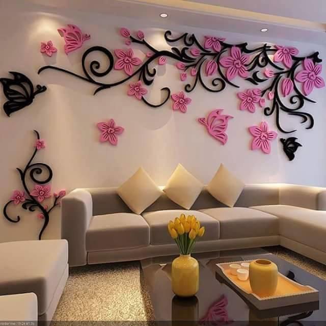 Объемные наклейки на стену цветы 72