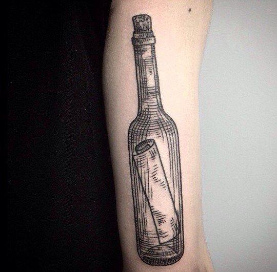 Бутылка с письмом
