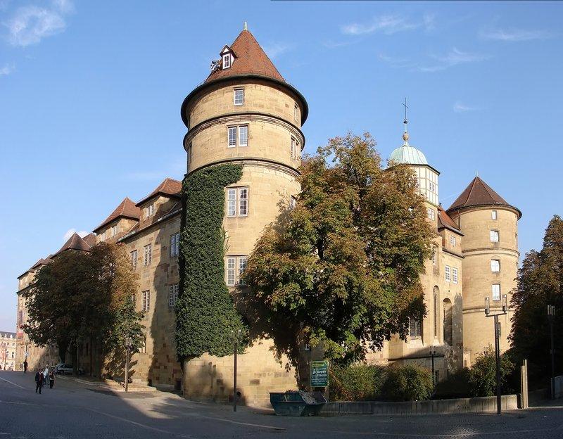 городское средневековое здание Штутгарта