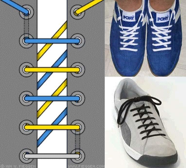 Красиво завязать шнурки в картинках участвует разгоревшемся