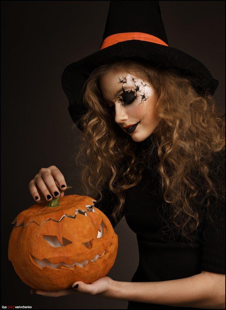 Картинки девушки на хэллоуине
