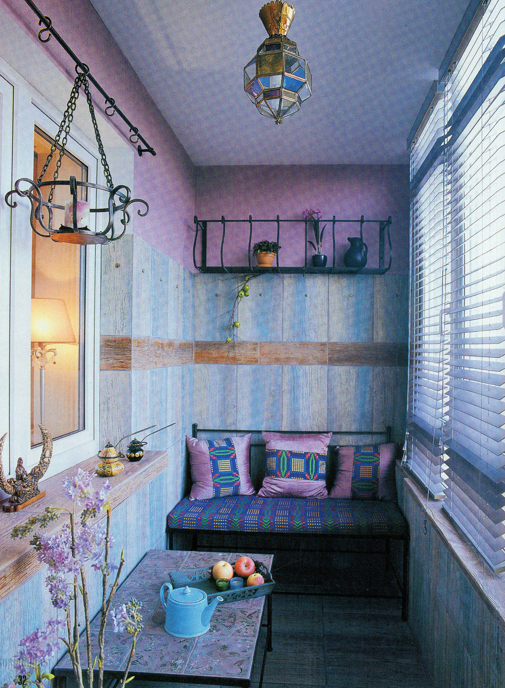 Восточный стиль на балконе материалы для отделки балкона htt.