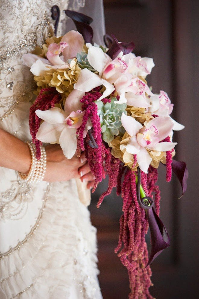 Букет невесты необычные цветы, букет
