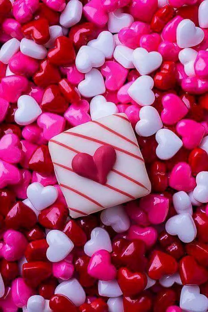 Фото с розовыми сердечками