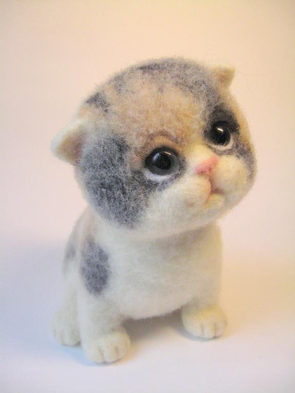 Котёнок из шерсти
