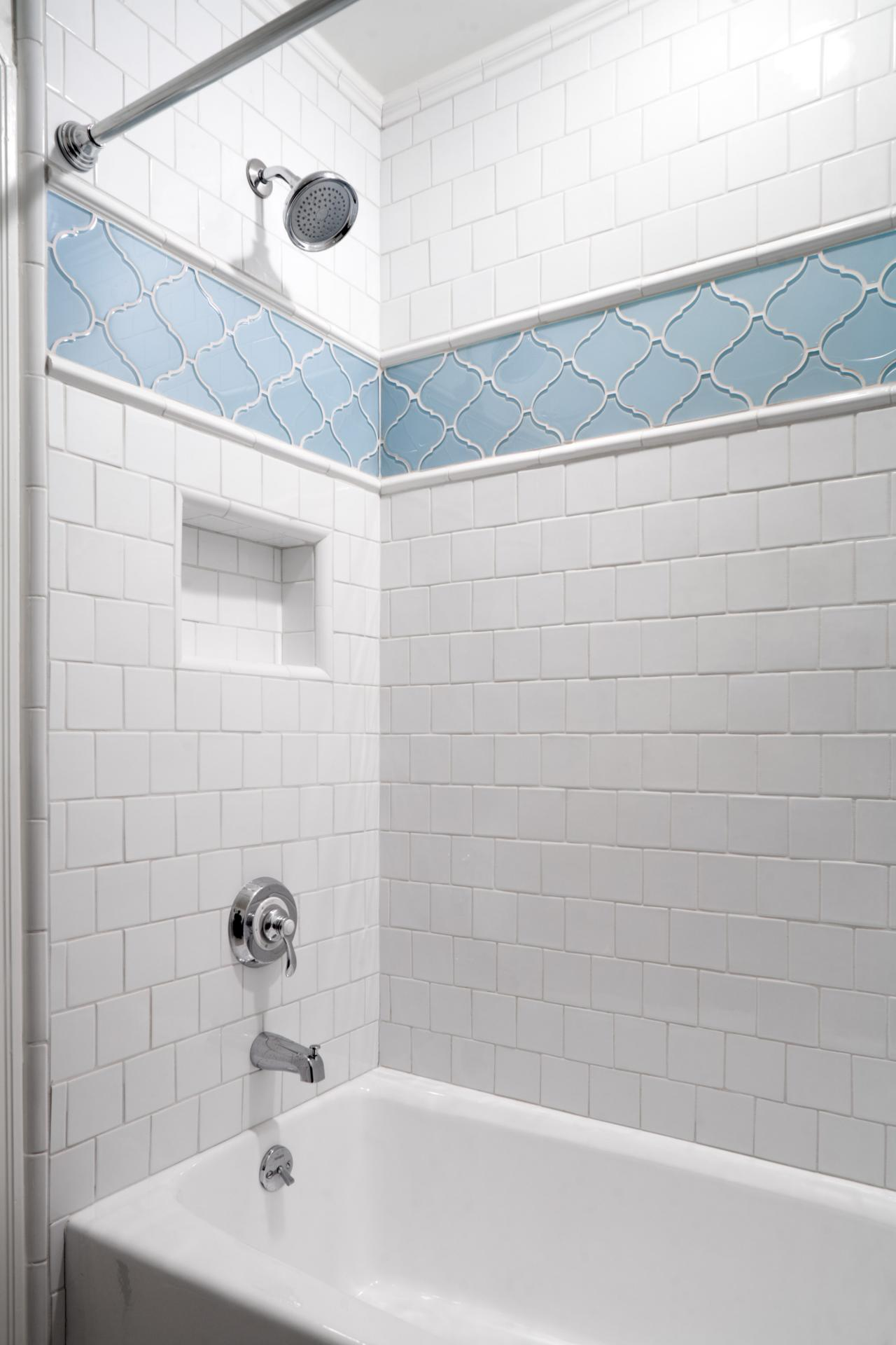 How To Give Your Shower Style With Tile Accent Tile Shower Height ...