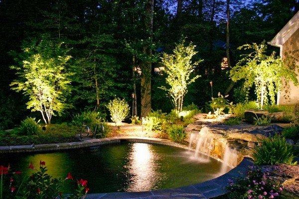 Без правильного освещения даже самый красивый ландшафтный дизайн с наступлением темноты потеряет свою привлекательность. Освещение для сада бывает