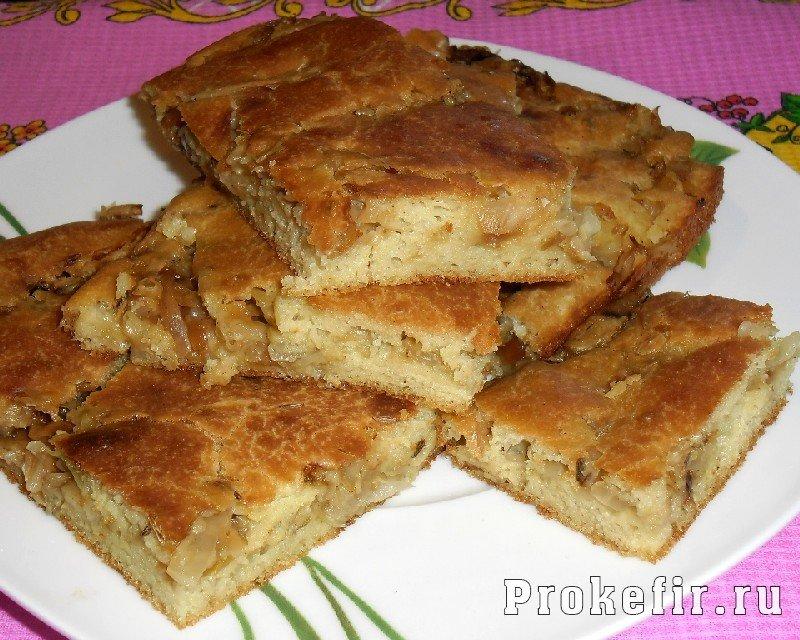 пирог тесто на кефире с капустой
