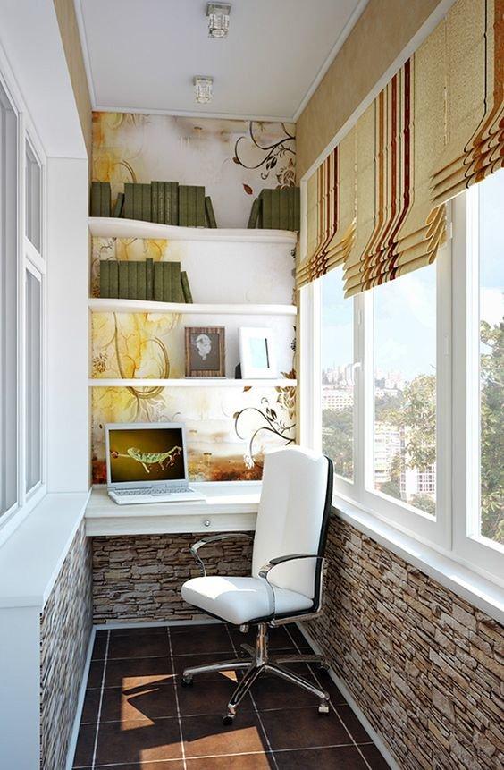 Утеплённый балкон дизайн фото