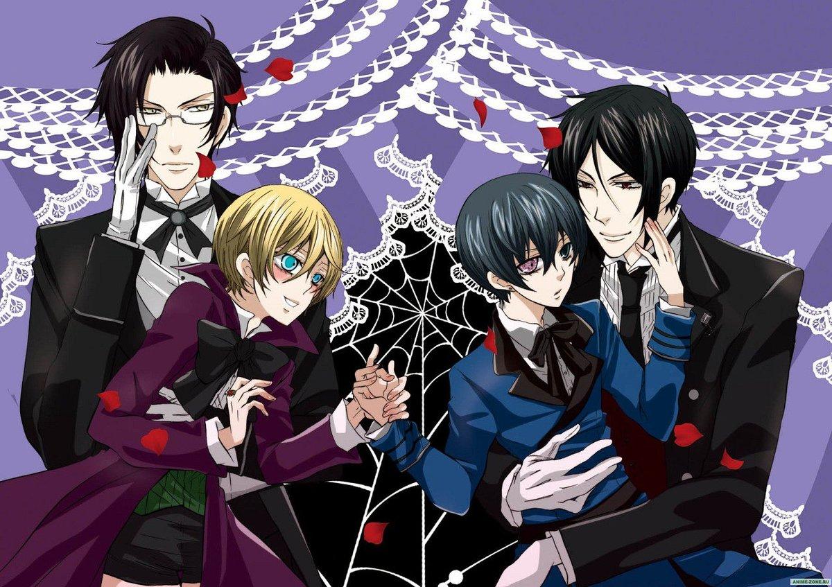 Персонажи аниме темный дворецкий картинки