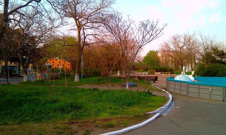 Зона отдыха в Одессе, парк Юность.