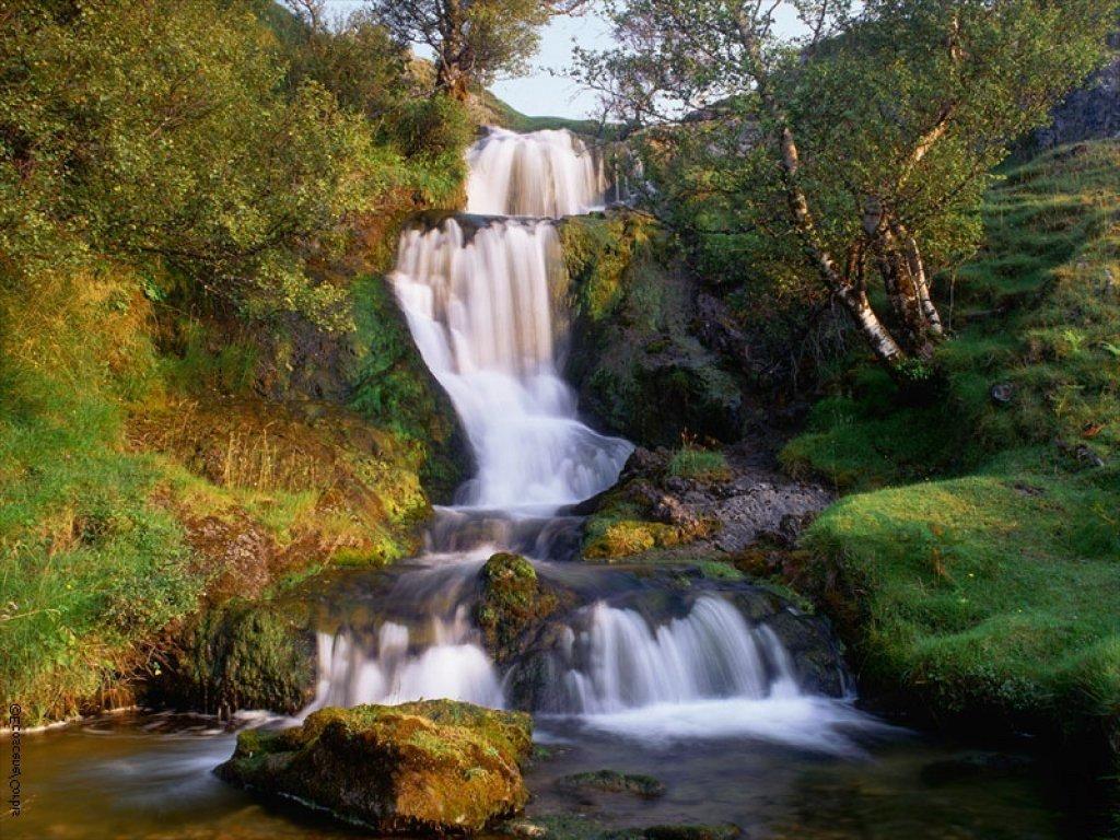 Поздравления юбилей, водопад открытка видео
