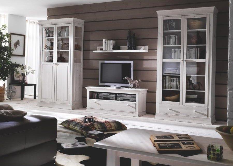 белая корпусная мебель в гостиную в стиле прованс Card From User