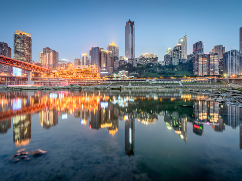 Чунцин, отражение в воде