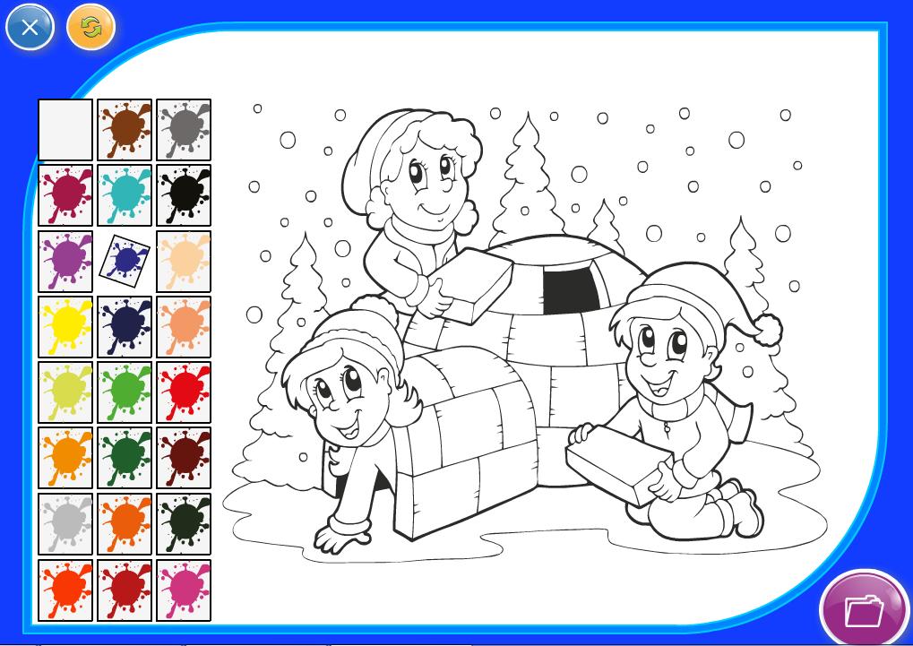 Детская игра раскраска