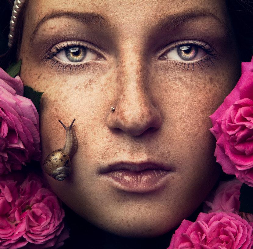 фотографии с цветочками на лице