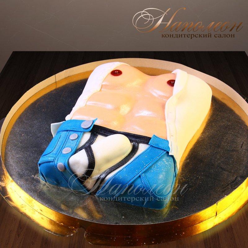 Эротические торты к девичнику. Торс