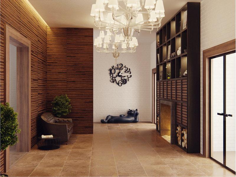 Интерьеры вестибюля и межквартирного холла