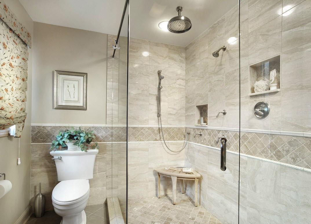 дизайн маленькой совмещенной ванной комнаты подразумевает применение