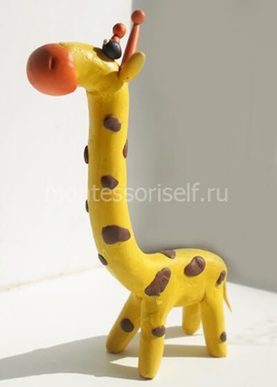 Как сделать жирафа схема