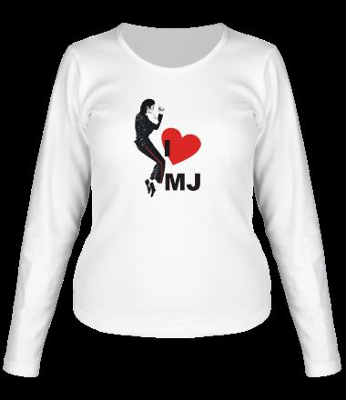 Женская футболка с длинным рукавом I Love Michael Jackson