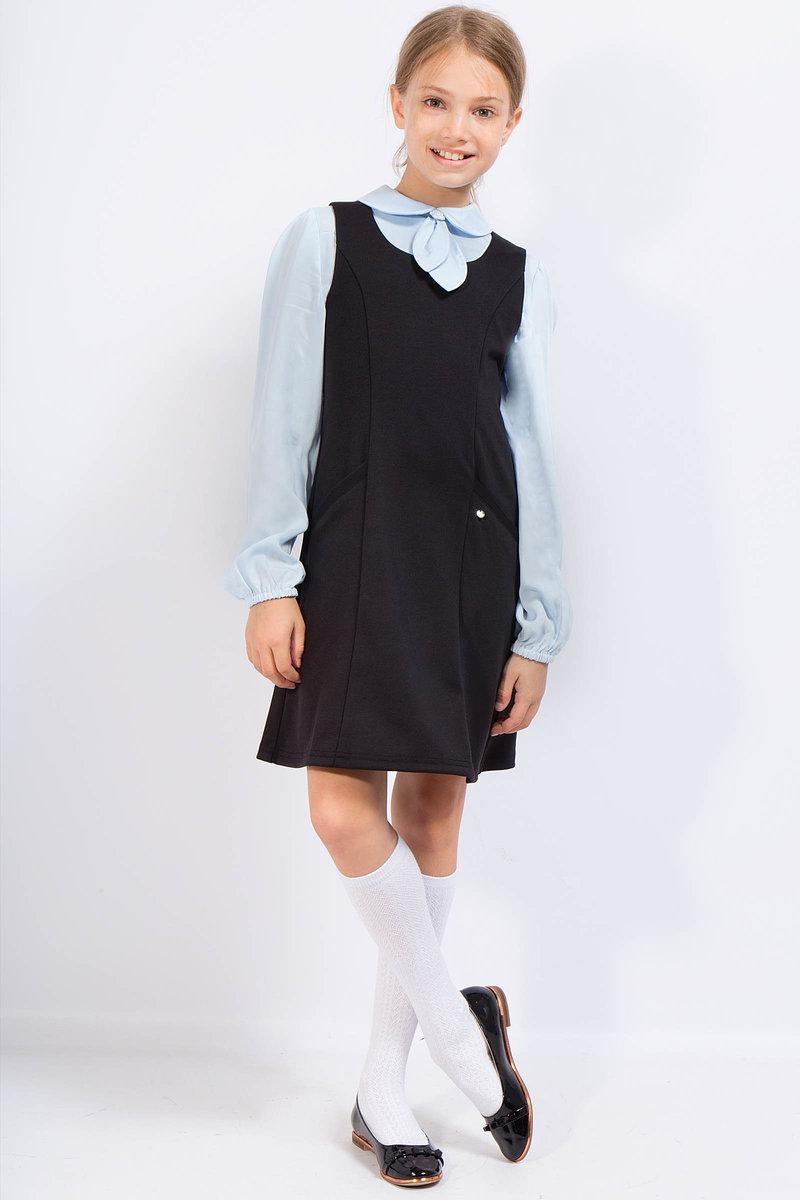 Платье без рукавов с блузкой