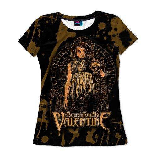Женская футболка 3D Bullet for my valentine