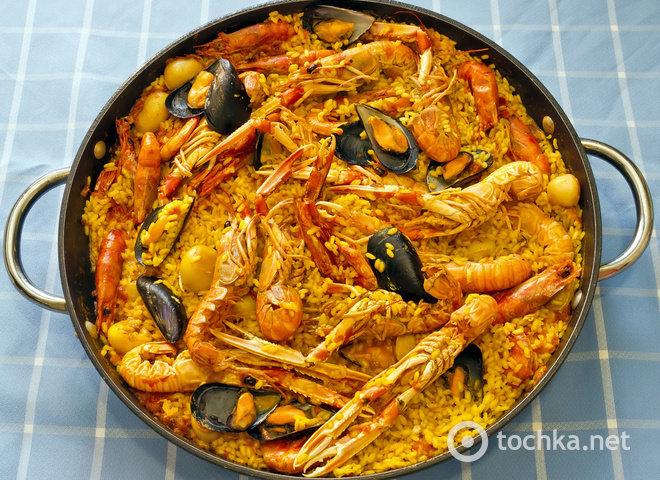 рецепты паэльи с морепродуктами Кузьмин